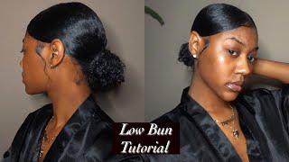 ♡ Середньої Частини Низьке Bun Підручник ♡ | Натуральних Волосся