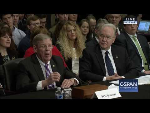 Senator Isakson Introduces HHS Nominee Rep. Tom Price at Confirmation Hearing