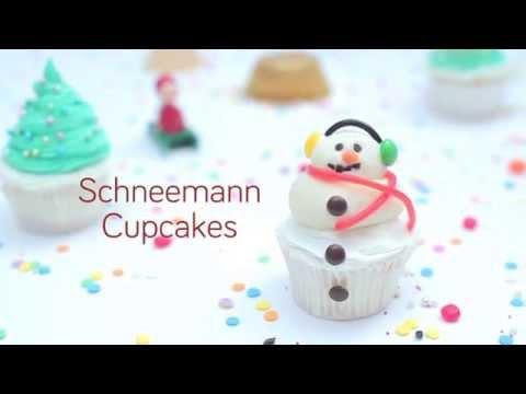 Schneemann Cupcakes Anleitung