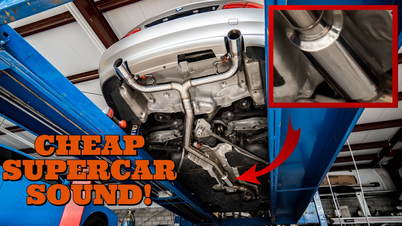 here s how i made my straight piped bmw 335i sound like a supercar for only 85 ep 25