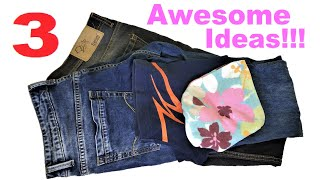 Easy Embroidery Hand Bag From Old Jeans and Old Cloth Reuse Ideas
