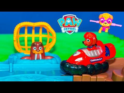 PAW PATROL Nickelodeon Skye and Zuma Roll Patrol Rescue New Toys Video