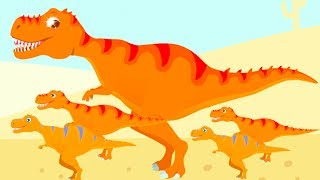 Jurassic Dig Game - Baby Play & Find Dinosaur Bones With Cute Vehicles - Fun Dino Game For Kids