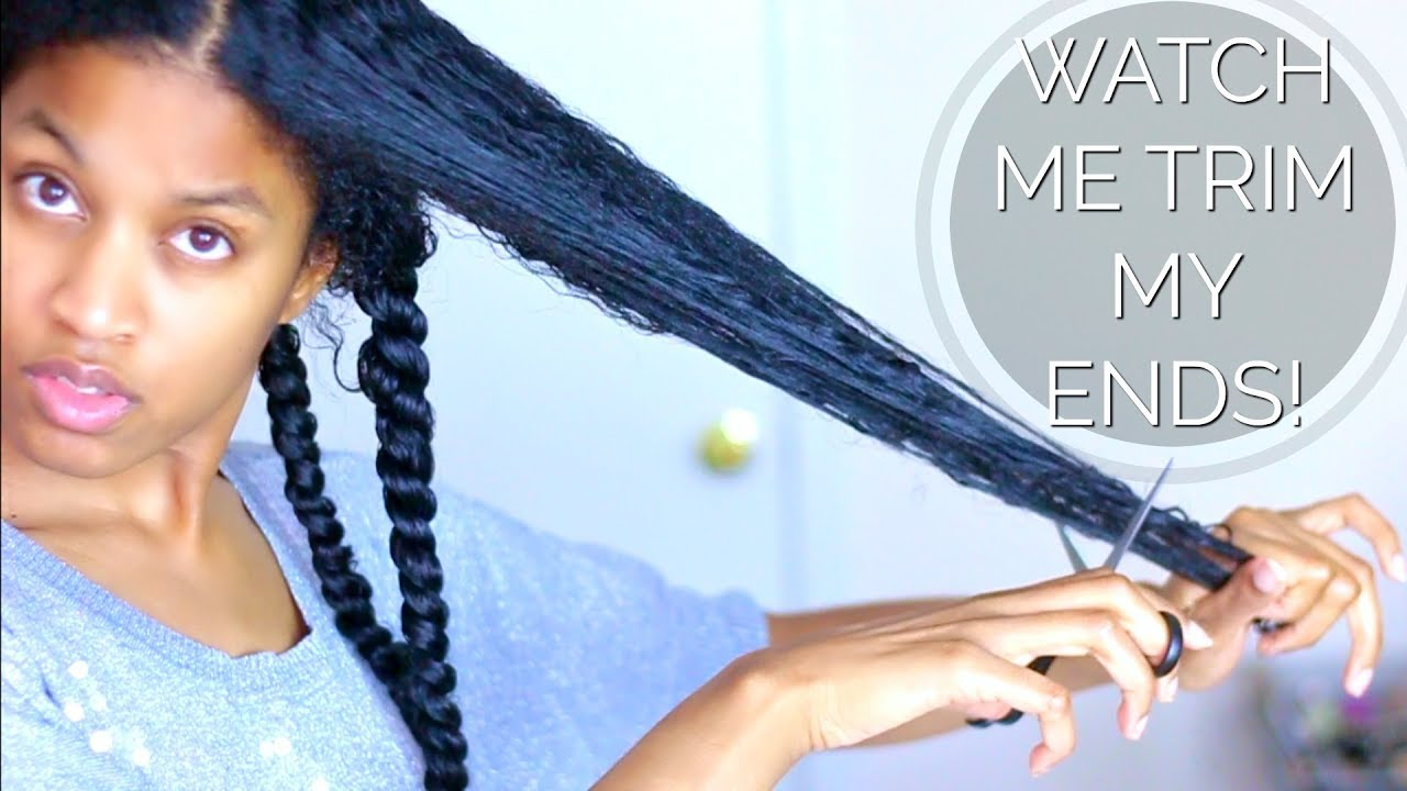 How I Cut/Trim My Ends|Natural Hair (EASY METHOD)