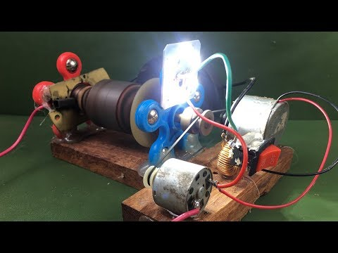Electricity Magnetic Free Energy Generator Using DC Motor -