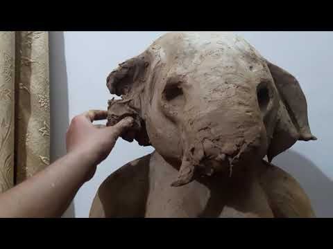 MAKING OF GANESH MURTI WITH CLAY