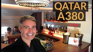 QATAR AIRWAYS A380 Business Class - Doha - Paris!