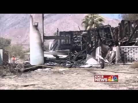 Palm Springs Racquet Club Fire CA 2014 California Daryn Hinton KMIR Ron Oden