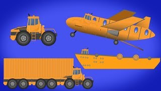 Kids TV Channel | CARGO SHIP | CARGO CONTAINER TRUCK | CARGO PLANE | Transformer | Video For Babies