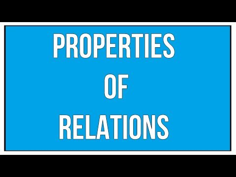 Explain The Properties of Relations With Examples - Sets And Relations / Maths Algebra