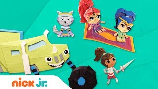 DIY Paper Craft Stop-Motion Video w/ PAW Patrol, Blaze, Nella & More! | Nick Jr.