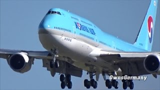 Korean Air HL7642 Boeing 747-8i Missed Approach Test Flight @ KMWH