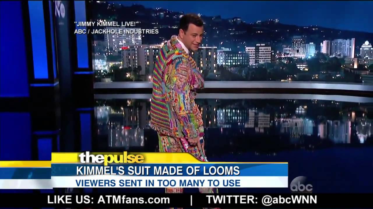 Watch Jimmy Kimmel Suit Made of Colorful Looms that ...