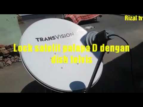 Lock satelit palapa D dengan dish telvis