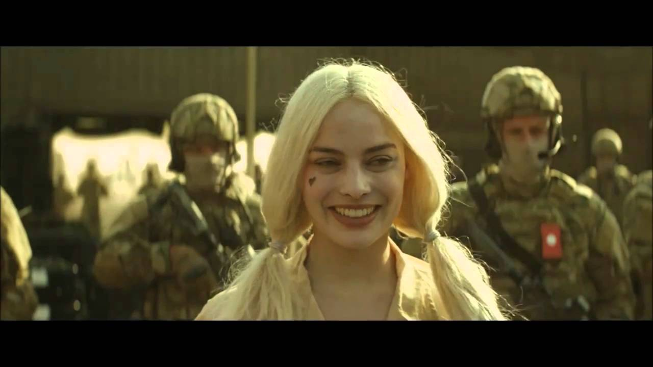 0185e0ca68de Margot Robbie as Harley Quinn in Suicide Squad Trailer 1 - AWESOME ...