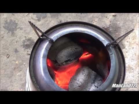 Quick Tip Charcoal and a Wood Gasifier Collapsable Bushcraft Stove for FSBushcraft