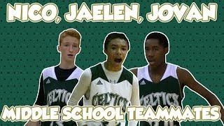 Nico Mannion & Jaelen House were Middle School Teammates with Jovan Blacksher