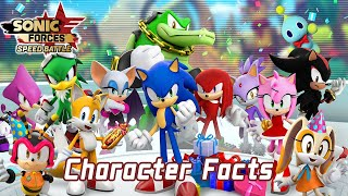 Sonic Forces Speed Battle: All Characters with Trivia