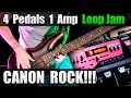 Canon Rock with Royal Blood Effects + Looper! 4 Pedals 1 Amp