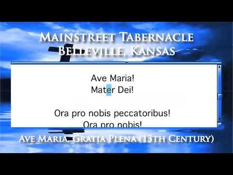 Ave Maria, Gratia Plena (13th Century) - Organ Version