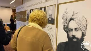 Gäste beim Empfang zur Eröffnung der Bait-ul-Hamid-Moschee Fulda
