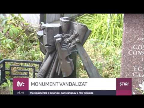 Mormântul actorului Constantin Constantinov a fost vandalizat. Făptașii au furat o bucată de bronz