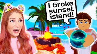 I went UNDERCOVER and BROKE SUNSET ISLAND // Roblox Royale High School