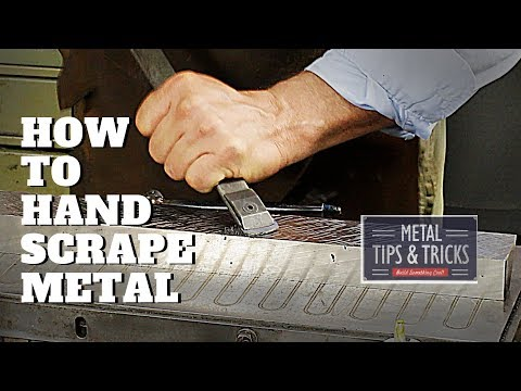 How to hand  scrape metal for flatness