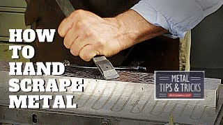How to hand scŗape metal for flatness