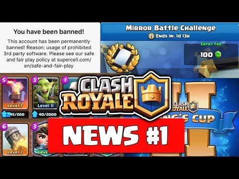 CR News #1-Accounts banned, F2P Quitting Game, CR Pro Player Finger Broken in CCGS, Kings Cup 2 !!