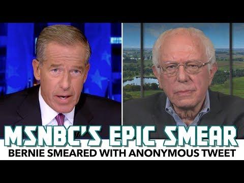 MSNBC Smears Bernie Sanders With Anonymous Tweet
