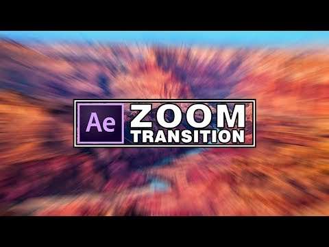 After effects Zoom Transition Tutorial - Zoom Effect