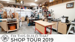 Woodworking Shop Tour 2019 - 2 Car Garage Workshop