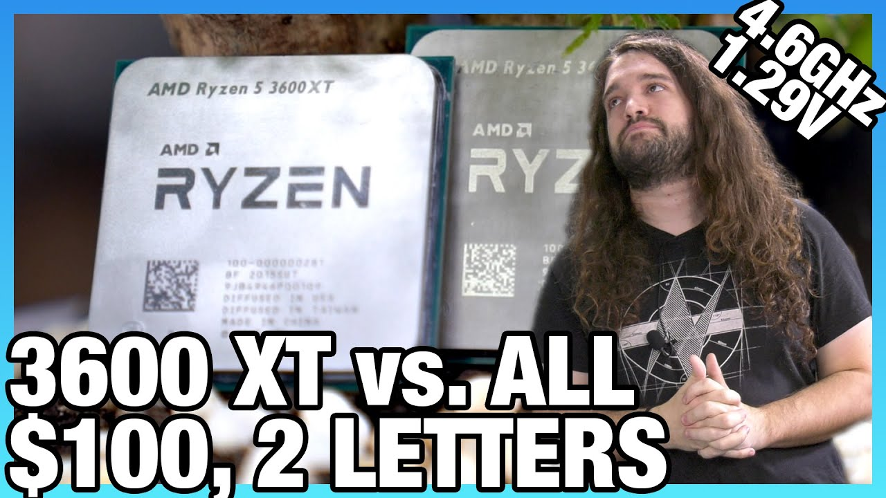 Amd Ryzen 5 3600xt Cpu Review Benchmarks 100 For 2 Letters Vs 3600 3700x More Youtube