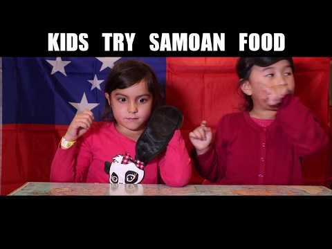 Kids React to Samoan Food!
