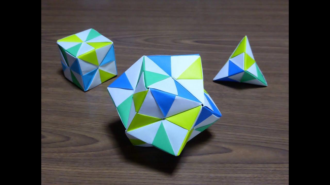 すべての折り紙 折り紙 マジックボール 折り方 : origami 折り紙「くす玉」の ...