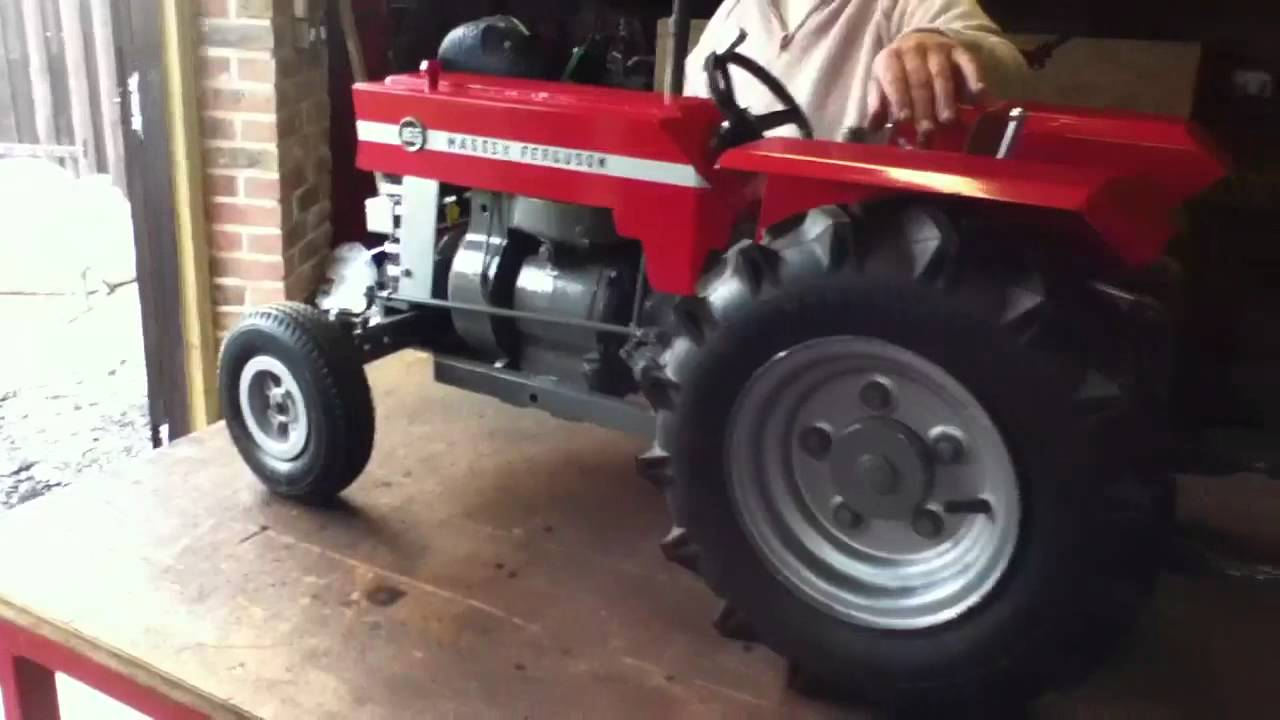 homemade tractor massey ferguson 165 working model youtube. Black Bedroom Furniture Sets. Home Design Ideas