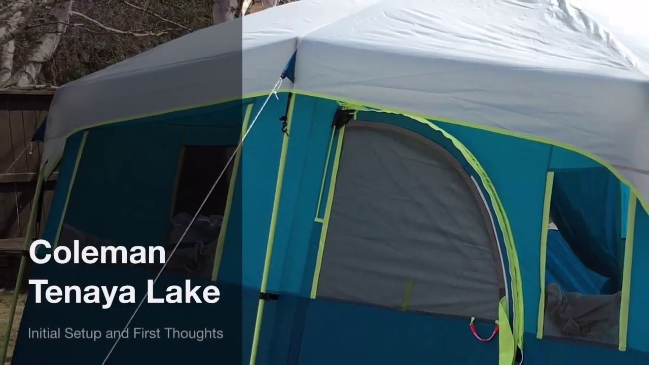 Coleman Tenaya Lake 8 Person Tent Setup & Coleman Tenaya Lake 8 Person Tent Setup - YouTube