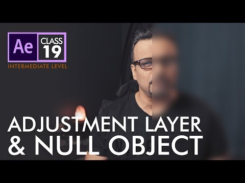 Adjustment Layer and Null Object in After Effects  - اردو / हिंदी