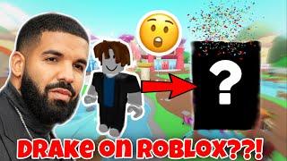 DRAKE TRANSFORMS INTO A ROBLOX CHARACTER! drake plays roblox??