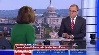 """Nancy Pelosi Gives Democrats a Grade of """"100%"""" for the First 100 Days"""