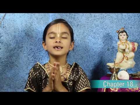 Bhagavad Gita Chapter 18 by 6 yr old Abhidheya