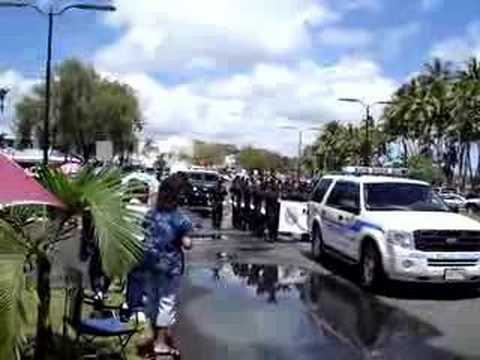 Hawaii County Police in Merrie Monarch Parade
