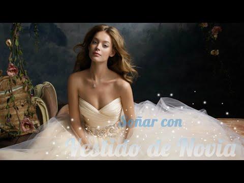 Sonar con vestido de novia de una amiga
