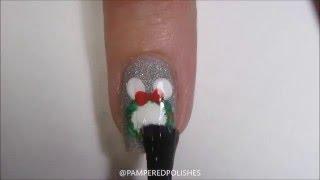 Christmas Mickey Heads Nail Tutorial