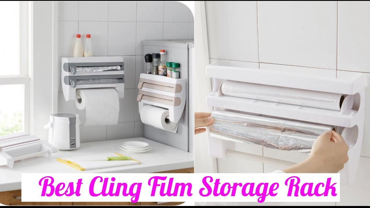 Buy Best Kitchen Cling Film Storage Rack Shelf Plastic Refrigerator ...