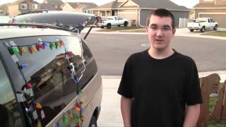 BJ عيد الميلاد أضواء السيارة - كيفية وضع أضواء عيد الميلاد على سيارة