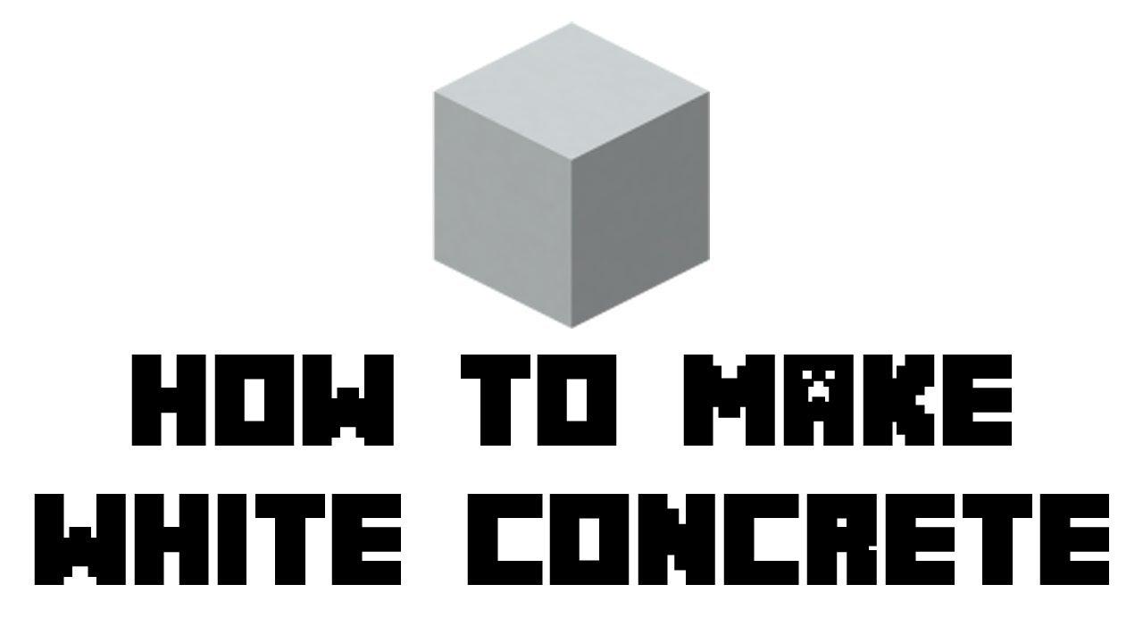 minecraft survival how to make white concrete youtube