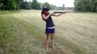 10 Gauge Double Barrel Shotgun (TWO bullets in) vs Me .. 110lbs