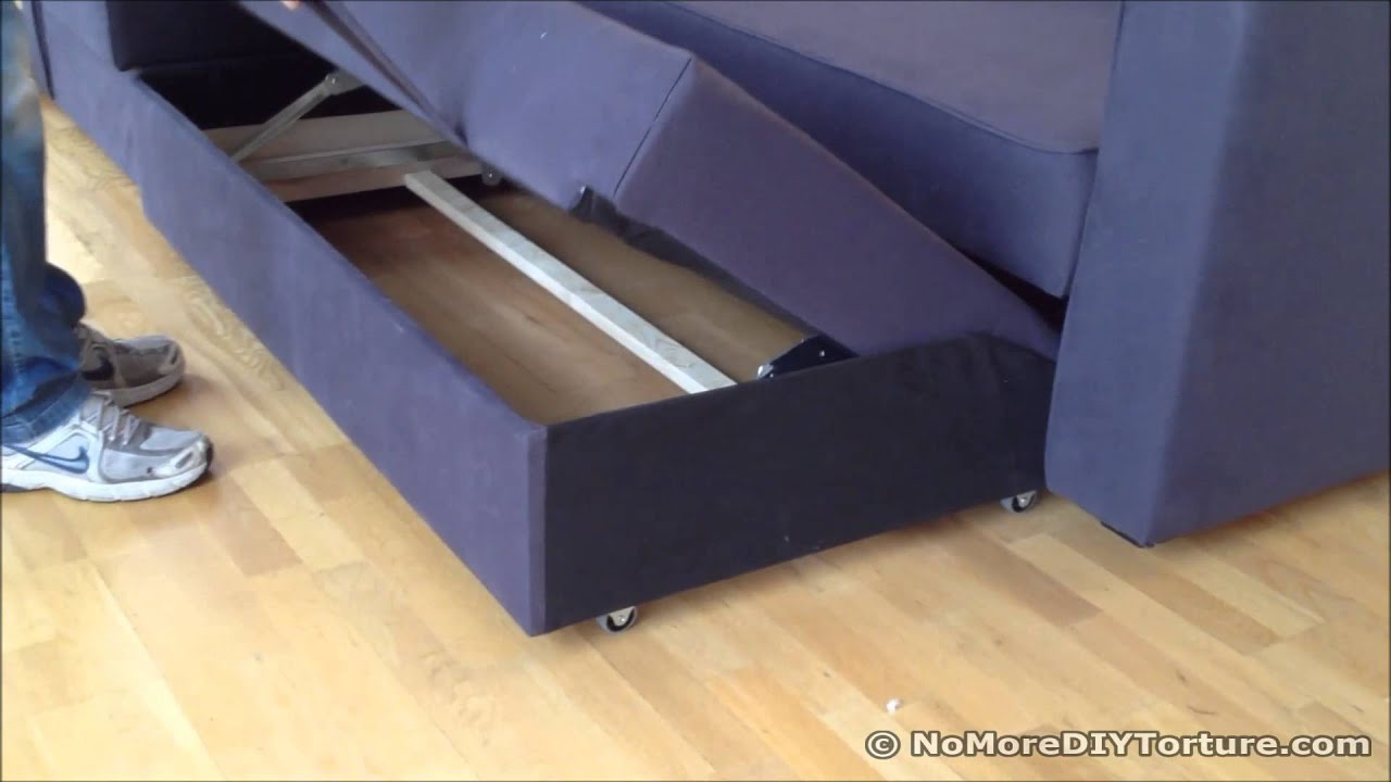 corner sofa bed chaise longue simmons sleeper sectional ikea manstad design youtube